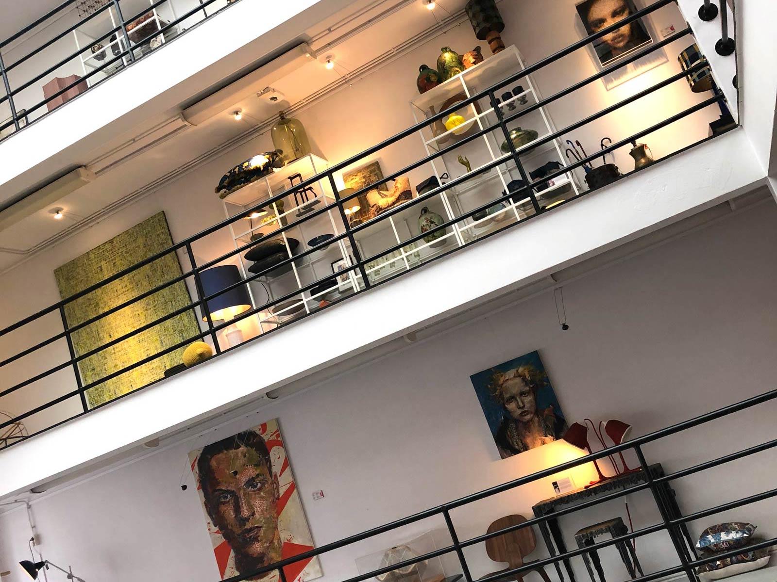 Galerie mit Exponaten im Bereich Wohndesign