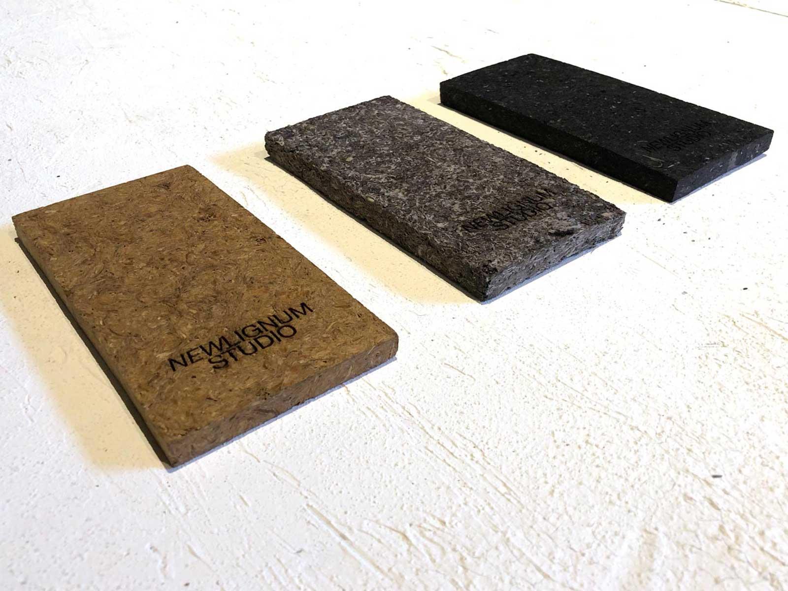 Plattenmaterial aus Holzstaub-Abfällen