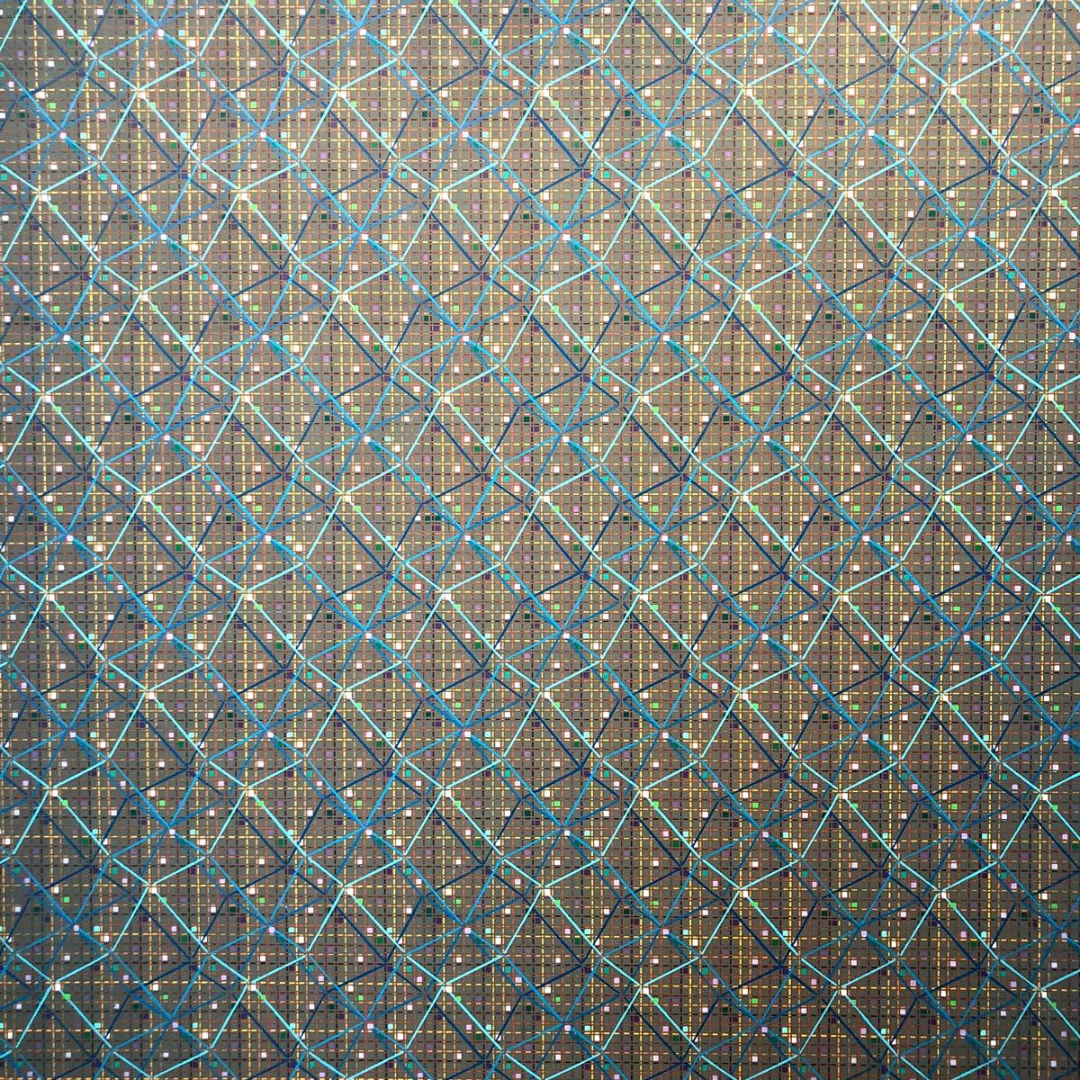 Geometrische Strukturen in einem Kunstwerk