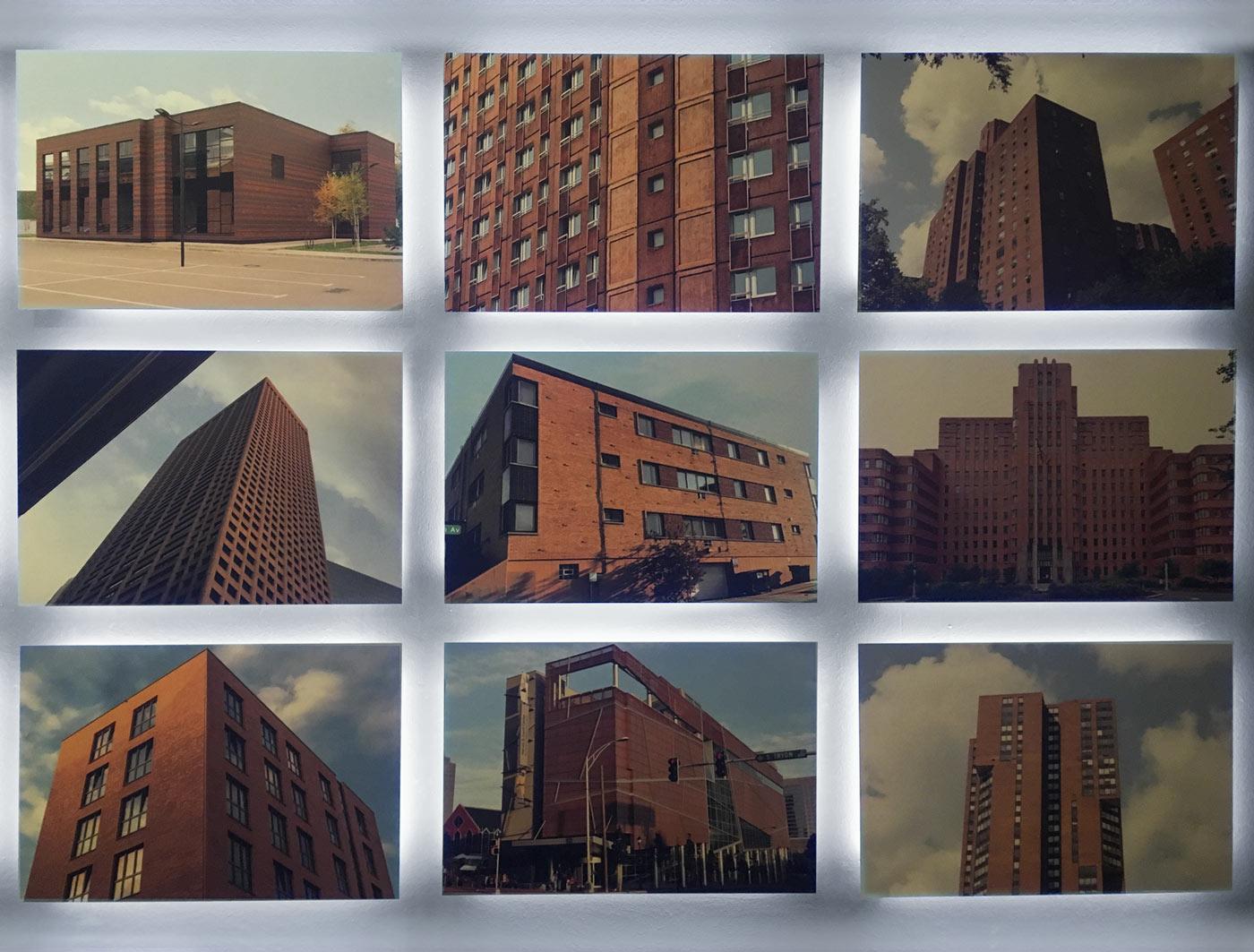 Aufnahmen von Gebäuden aus verschiedenen Perspektiven