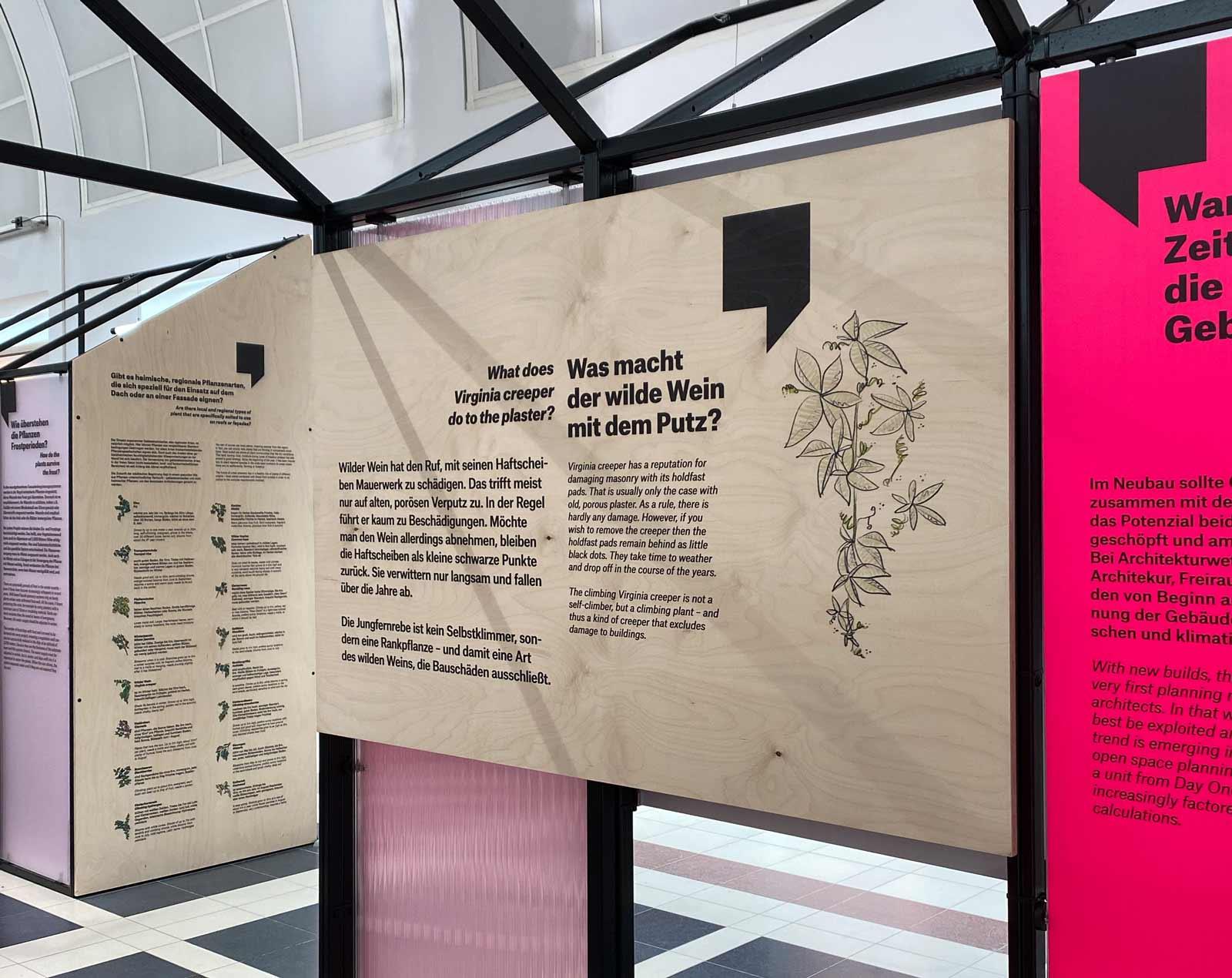 Ausstellung mit Texten und Grafiken